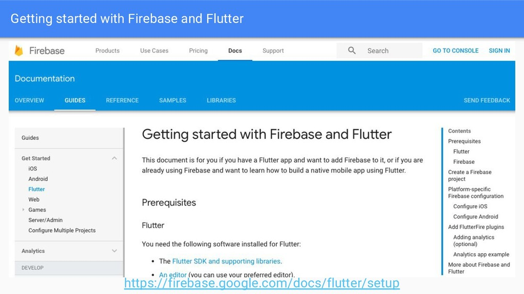 Getting started with Firebase and Flutter https...