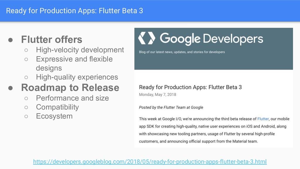 Ready for Production Apps: Flutter Beta 3 https...