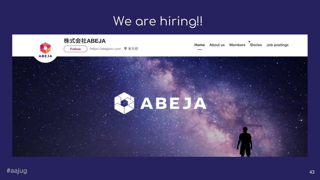 BBKVH 43 We are hiring!!