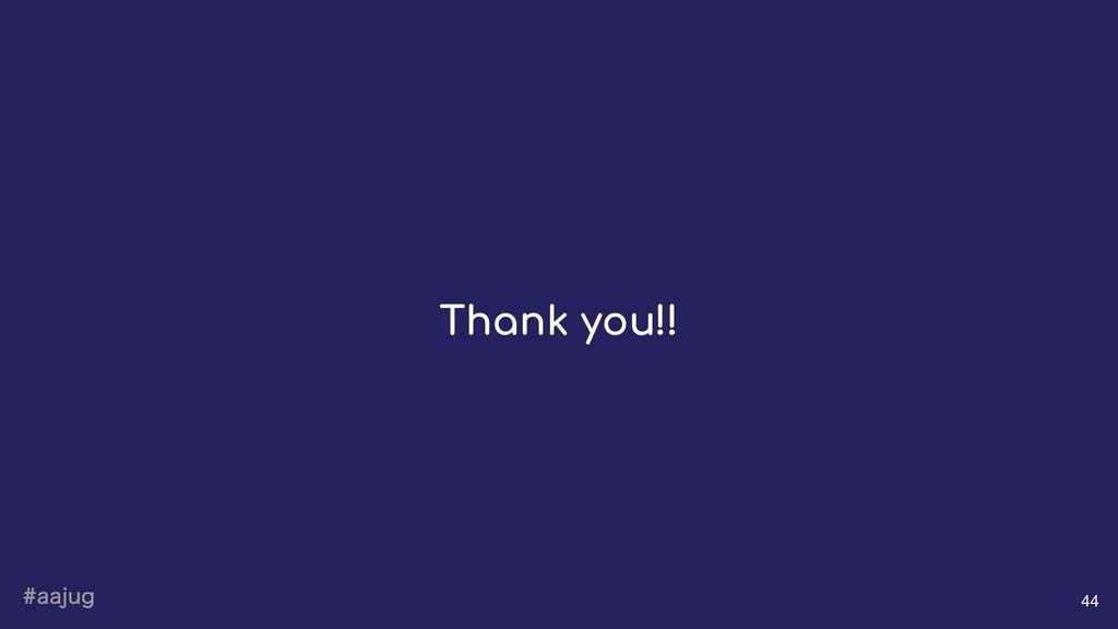 BBKVH 44 Thank you!!