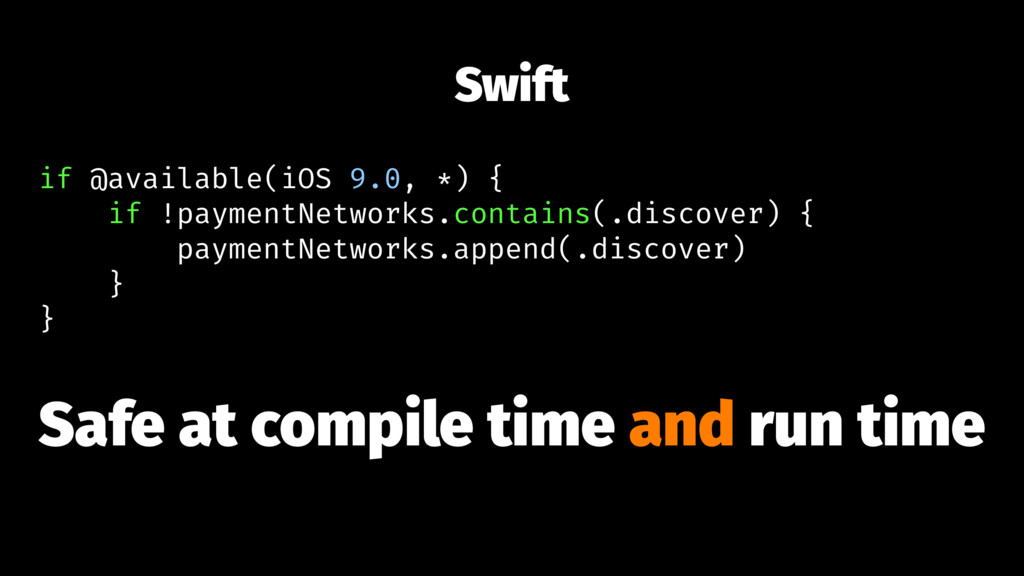 Swift if @available(iOS 9.0, *) { if !paymentNe...