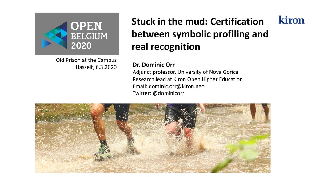 Stuck in the mud: Certification between symboli...