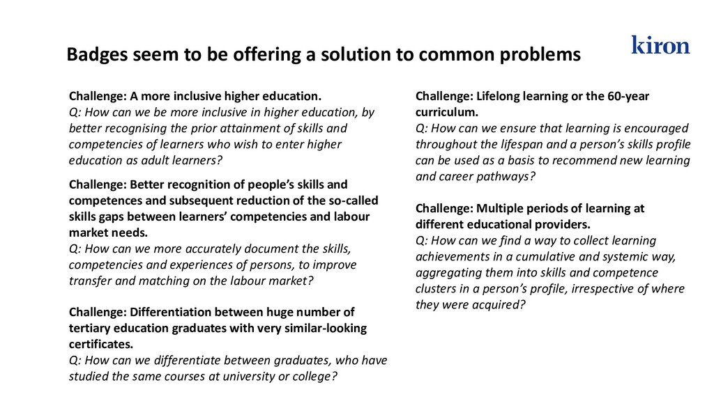 Challenge: A more inclusive higher education. Q...