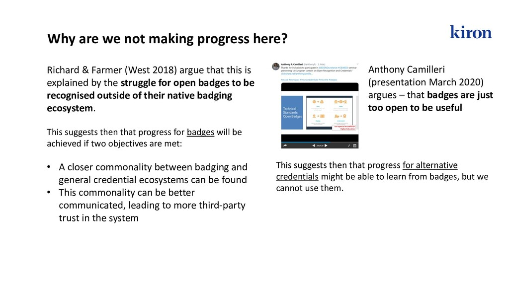 This suggests then that progress for badges wil...