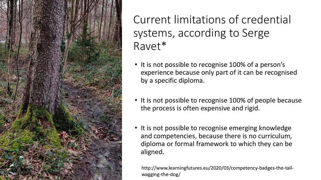 Current limitations of credential systems, acco...