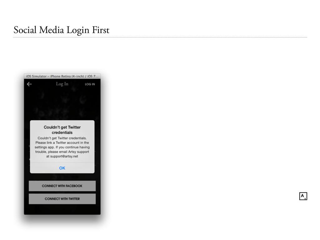 Social Media Login First