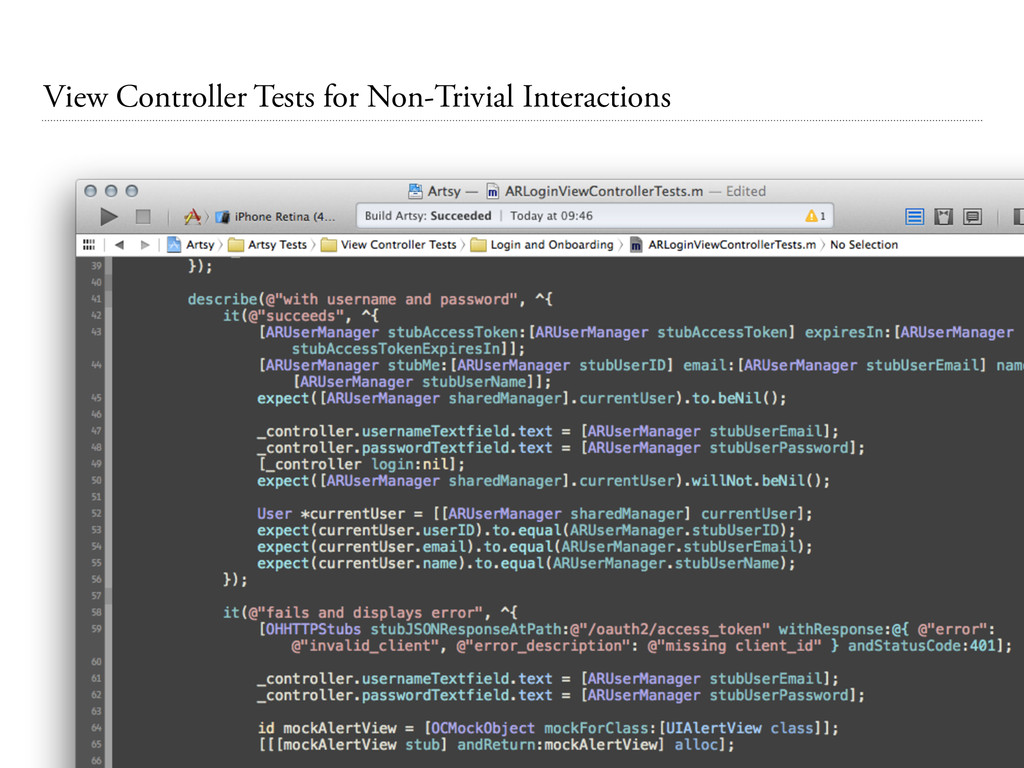 View Controller Tests for Non-Trivial Interacti...