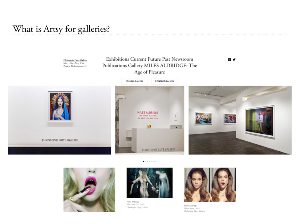 What is Artsy for galleries?
