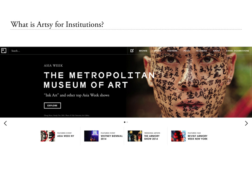 What is Artsy for Institutions?
