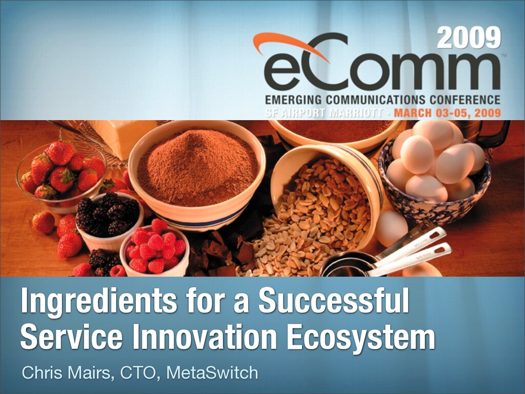 Ingredients for a Successful Service Innovation...