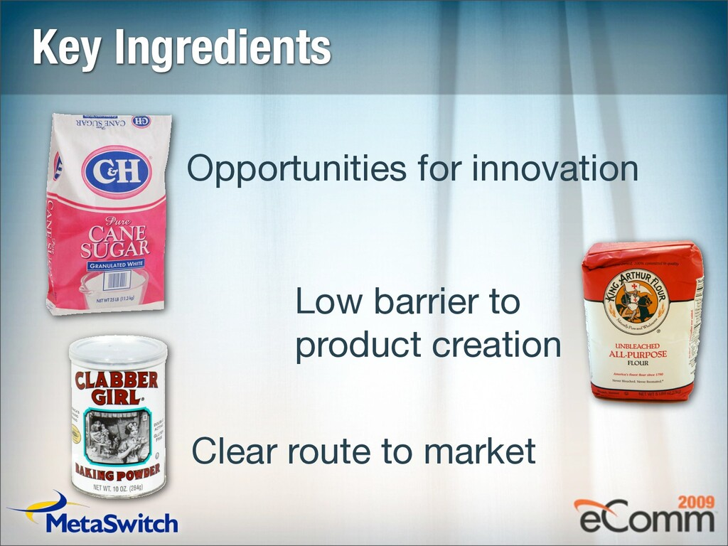 Key Ingredients Opportunities for innovation Lo...