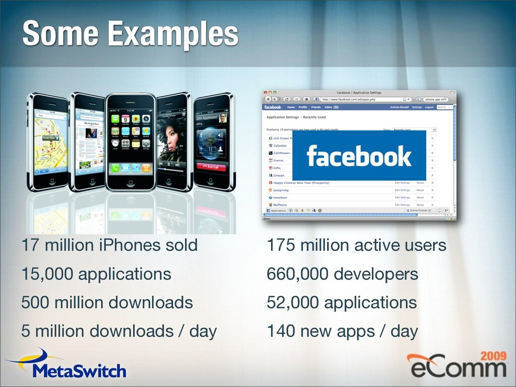 Some Examples 17 million iPhones sold 15,000 ap...
