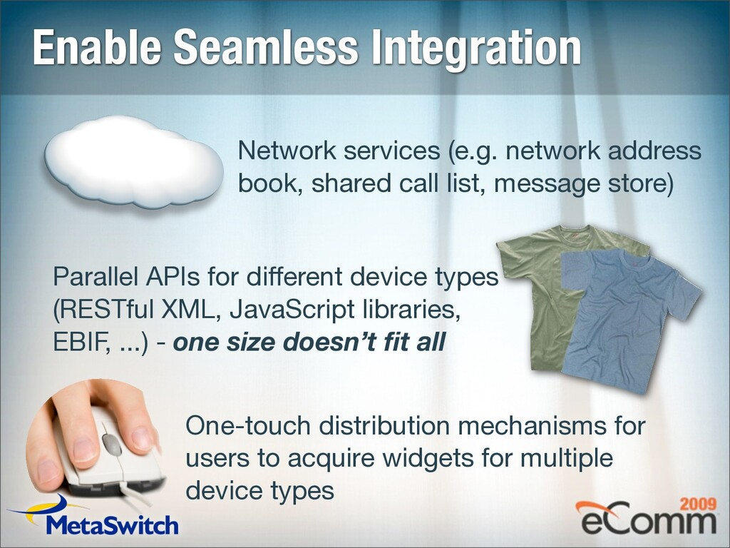 Enable Seamless Integration Network services (e...