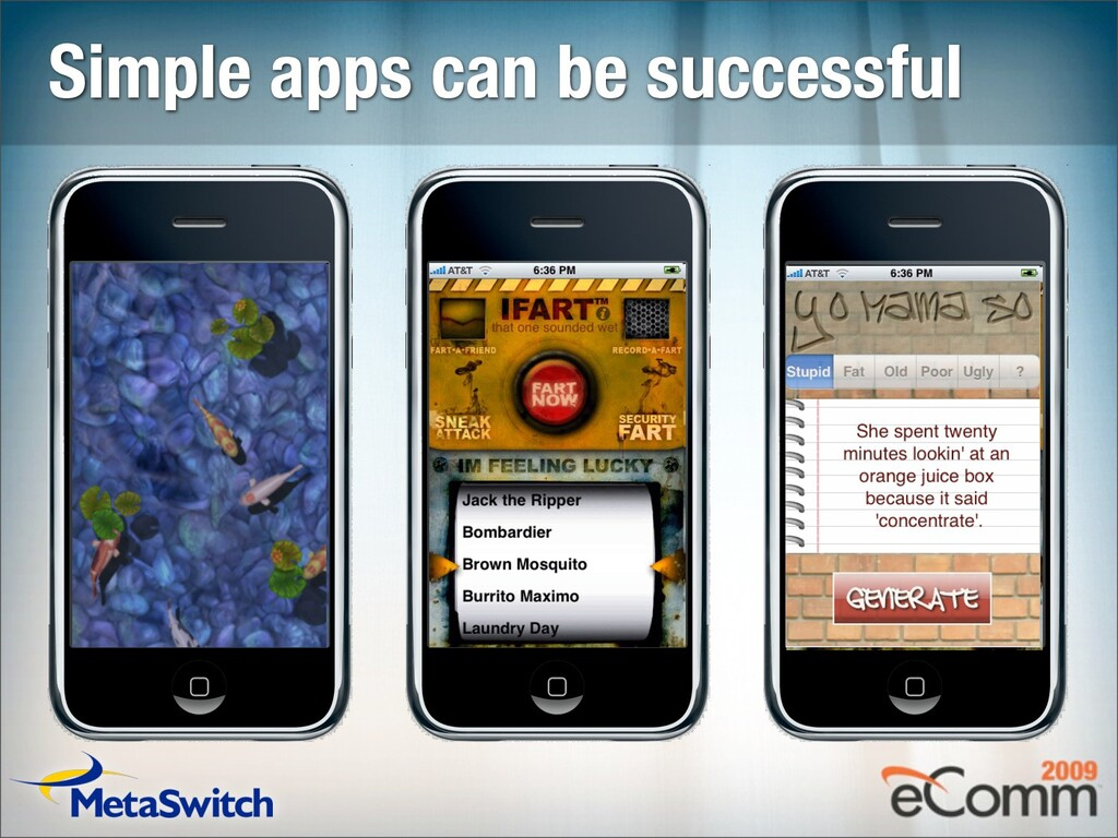 Simple apps can be successful