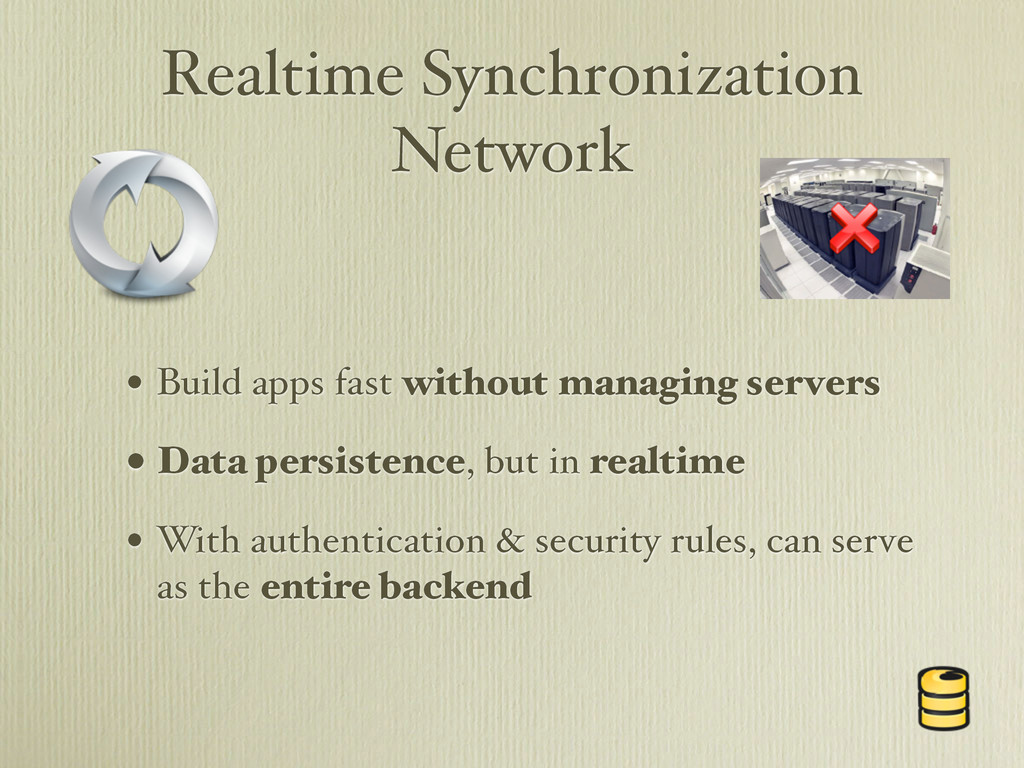 Realtime Synchronization Network • Build apps f...