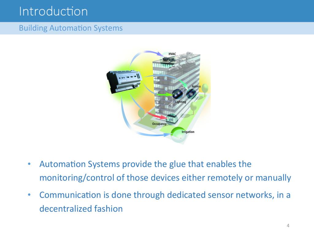 IntroducFon Building Automa8on Systems...