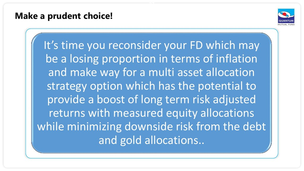 37 It's time you reconsider your FD which may b...