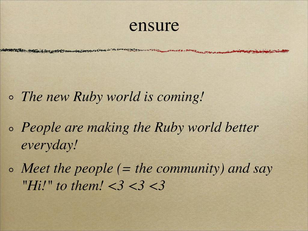 ensure The new Ruby world is coming!ɹ People ar...