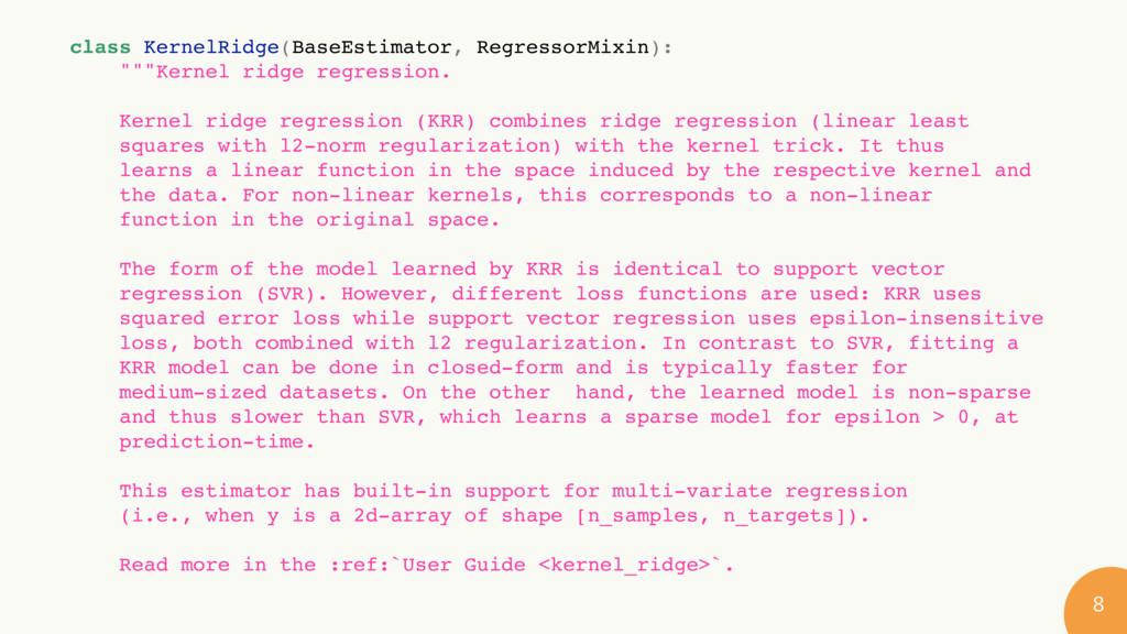 class KernelRidge(BaseEstimator, RegressorMix...