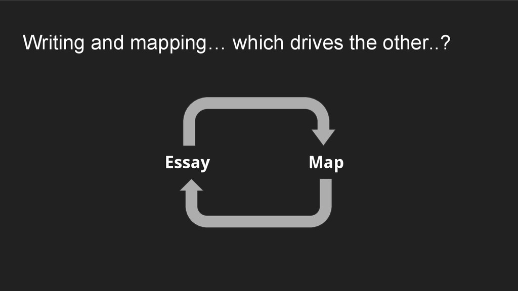 Essay Map Writing and mapping… which drives the...