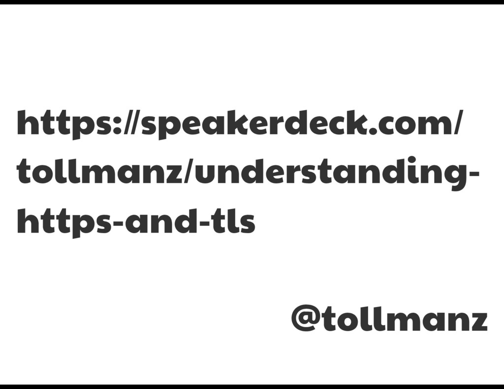 https://speakerdeck.com/ tollmanz/understanding...