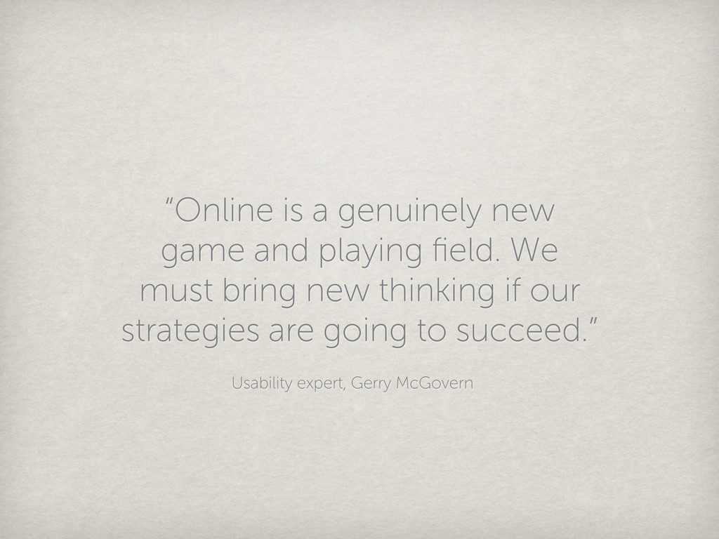 """""""Online is a genuinely new game and playing fiel..."""