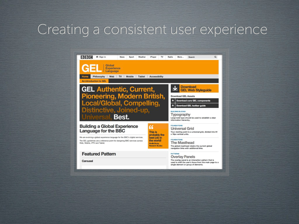 Creating a consistent user experience