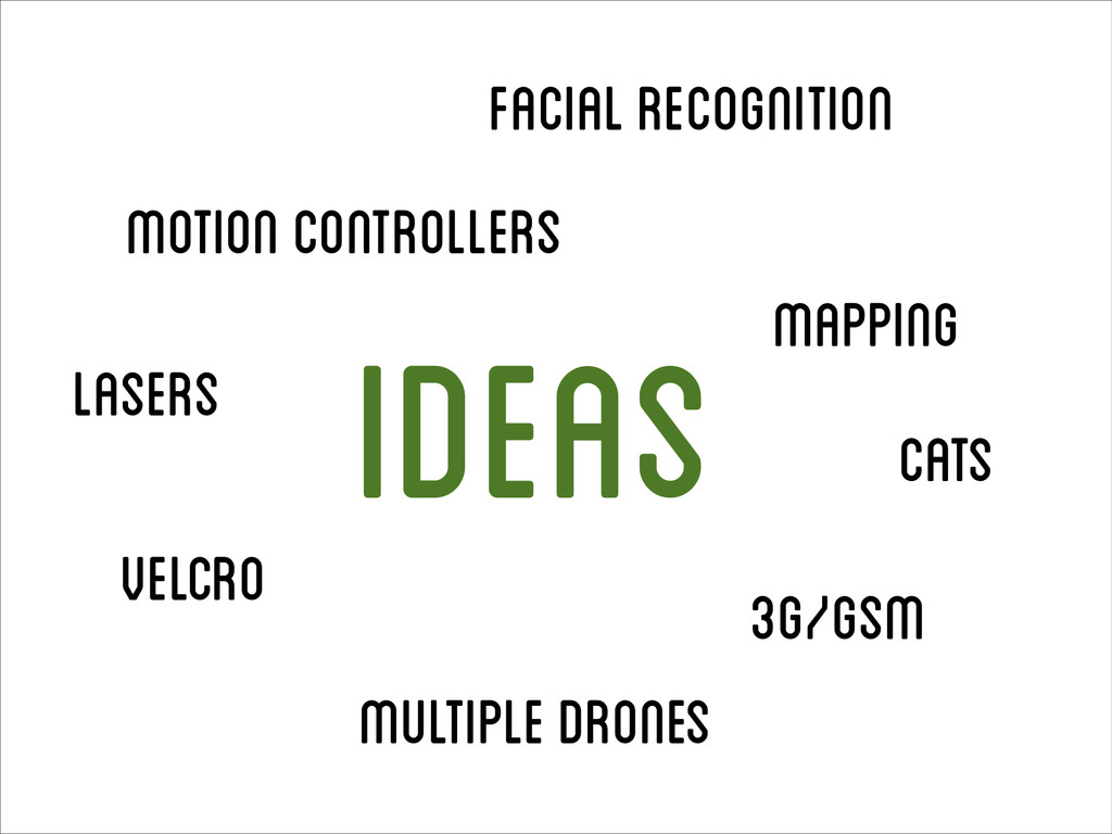 Facial recognition Motion controllers Lasers Mu...