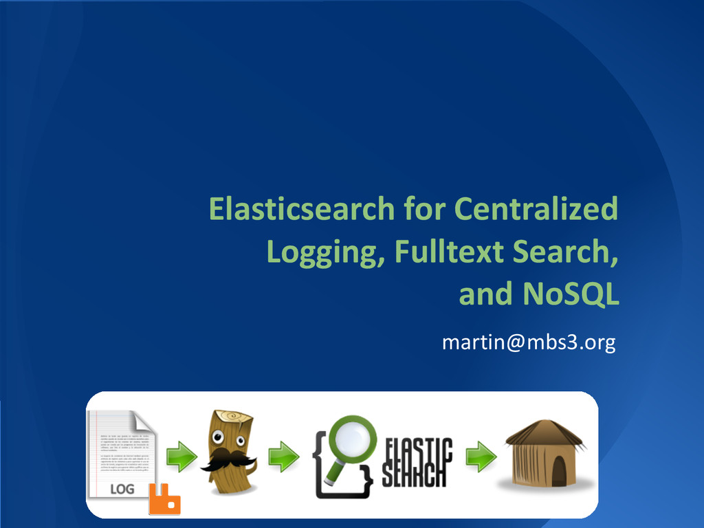 Elasticsearch for Centralized Logging, Fulltext...