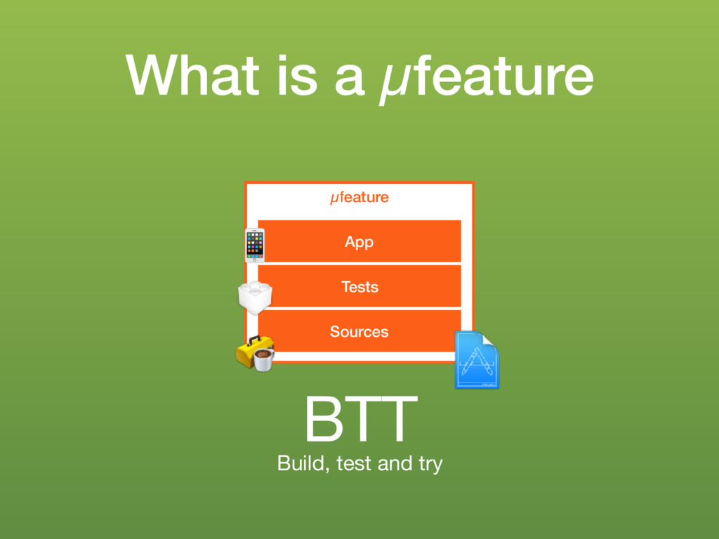 What is a µfeature µfeature Sources Tests App !...