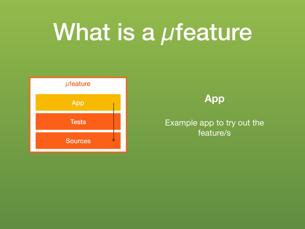 What is a µfeature µfeature Sources Tests App A...