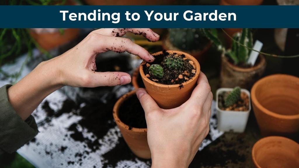 Tending to Your Garden