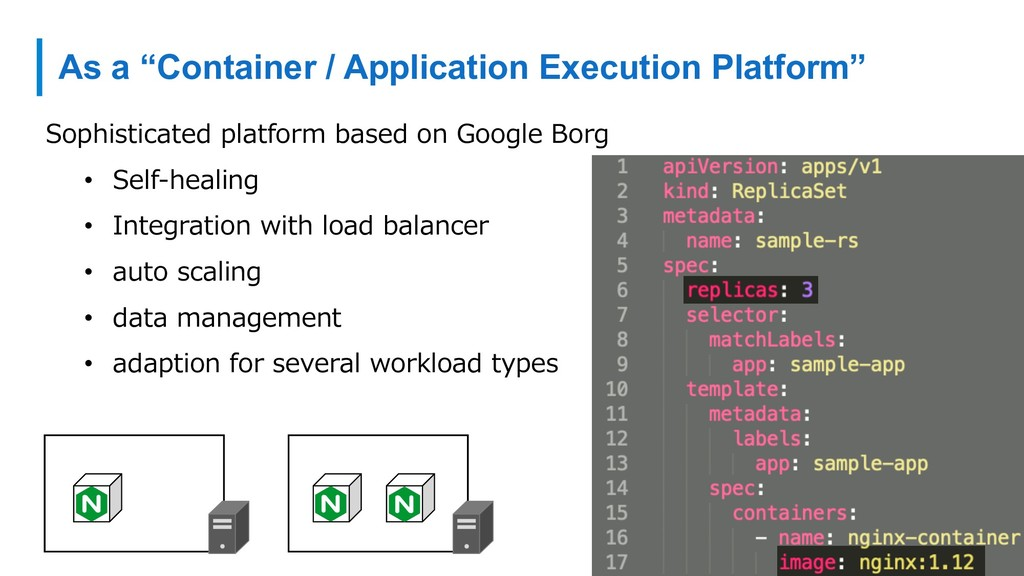 "As a ""Container / Application Execution Platfor..."