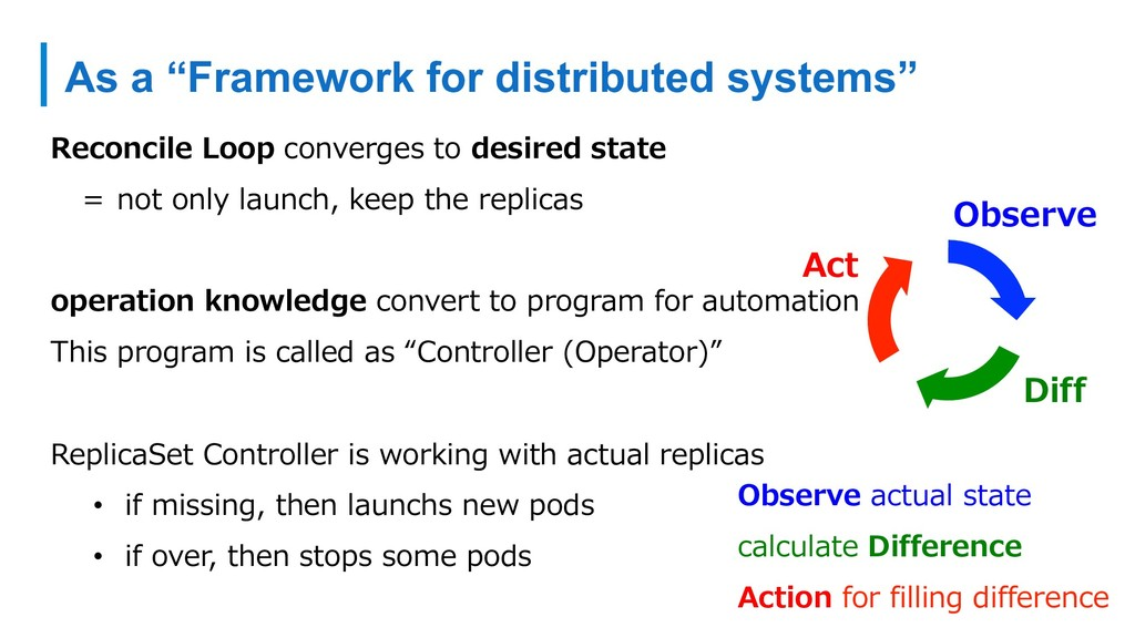 "As a ""Framework for distributed systems"" Reconc..."
