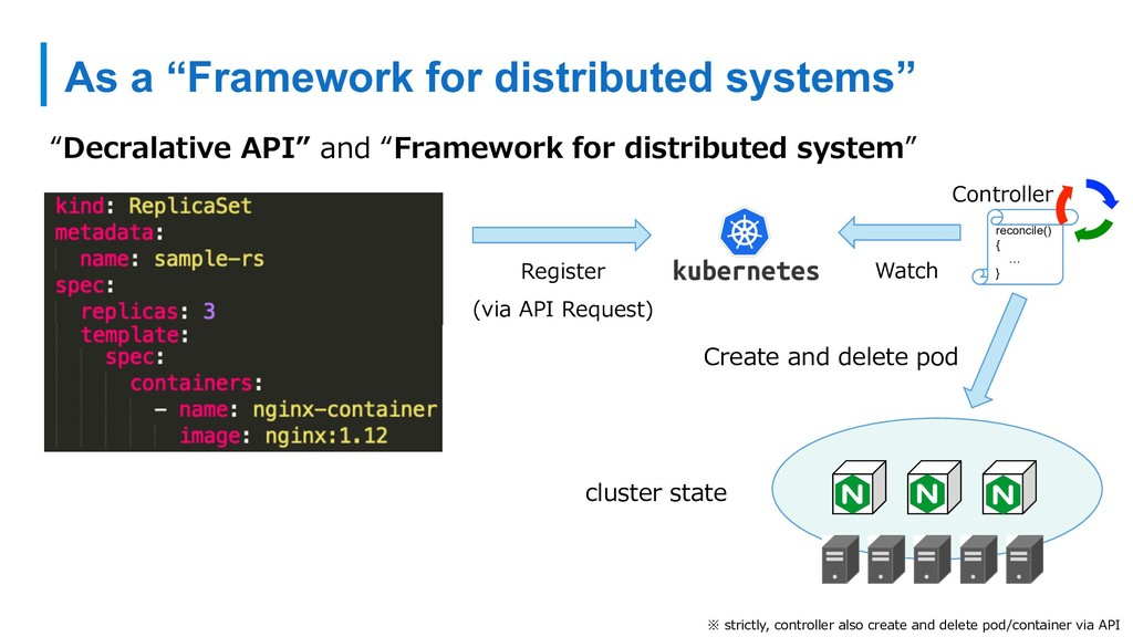 "As a ""Framework for distributed systems"" ""Decra..."