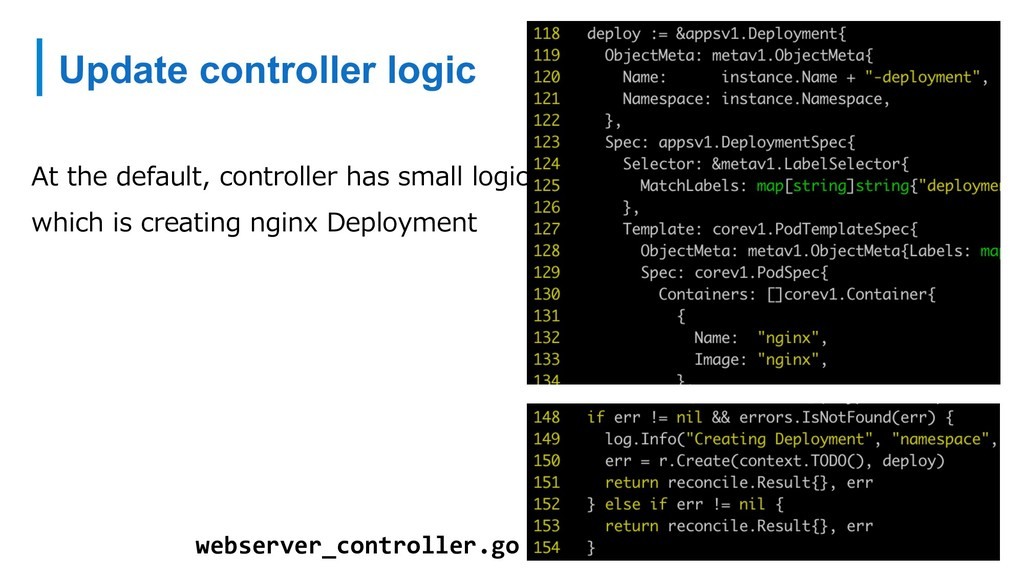 Update controller logic At the default, control...