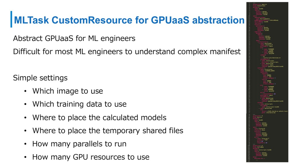 MLTask CustomResource for GPUaaS abstraction Ab...