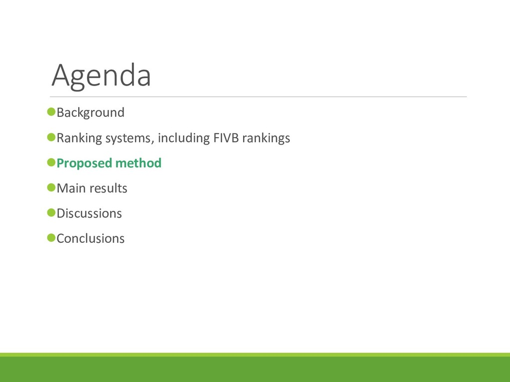 Agenda Background Ranking systems, including ...