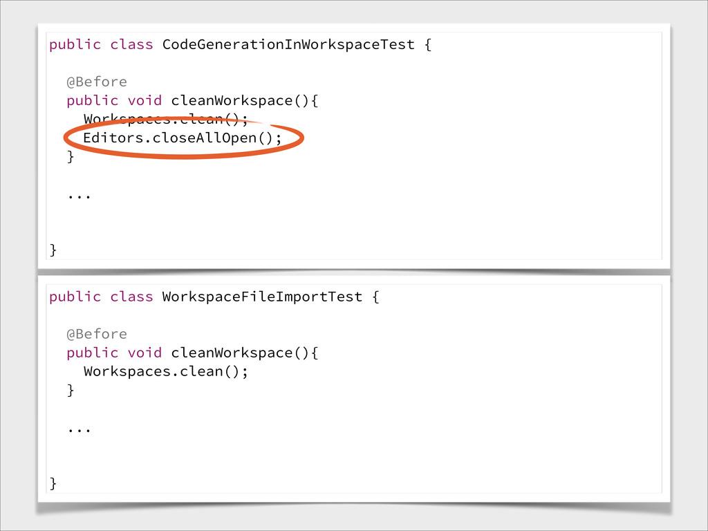 public class CodeGenerationInWorkspaceTest { @B...