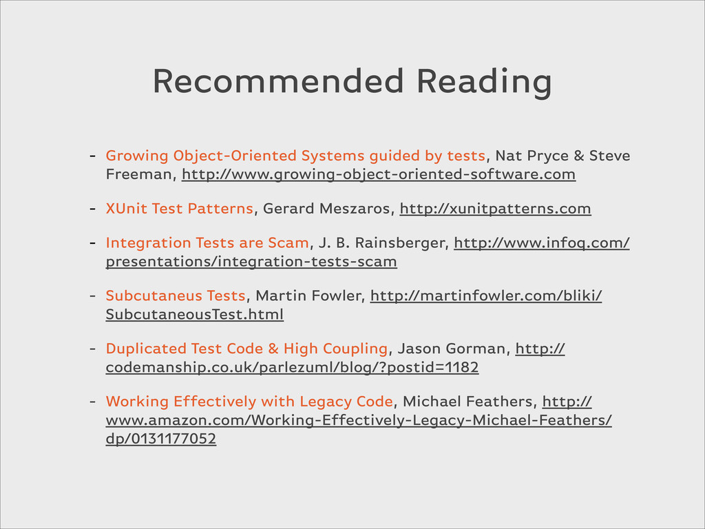 Recommended Reading - Growing Object-Oriented S...