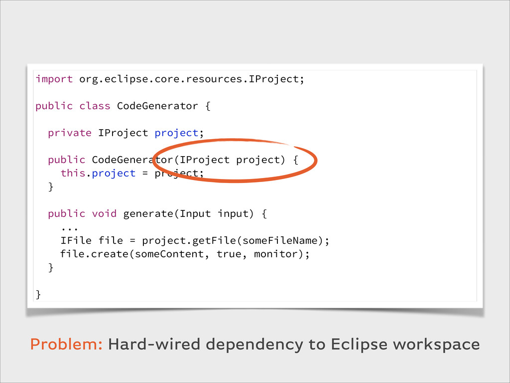 import org.eclipse.core.resources.IProject; ! p...