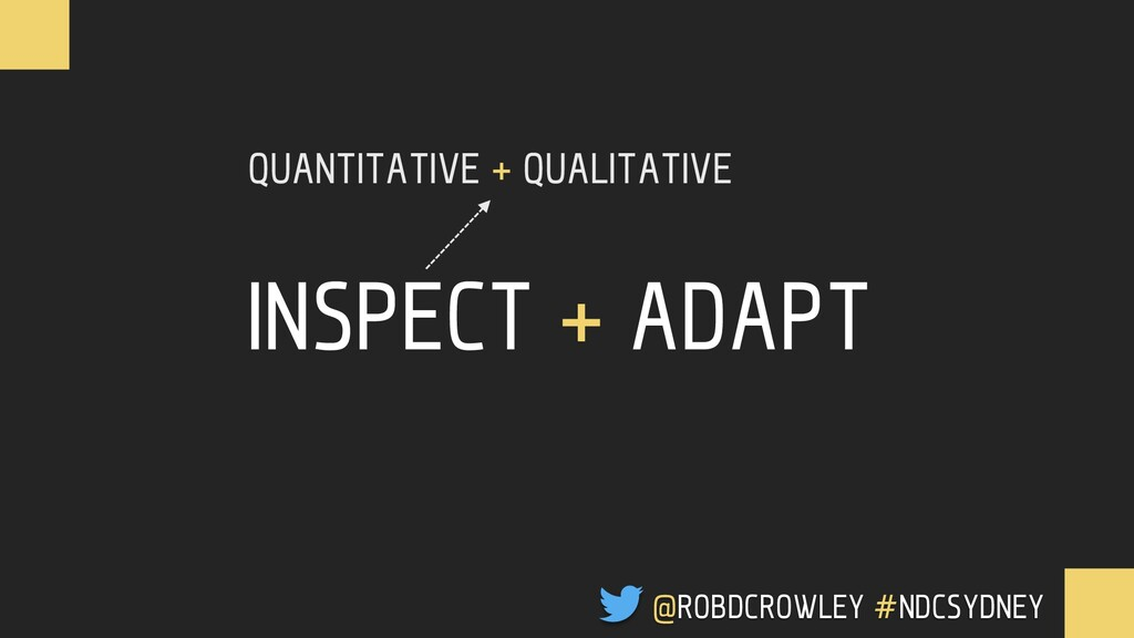 INSPECT + ADAPT QUANTITATIVE + QUALITATIVE @ROB...