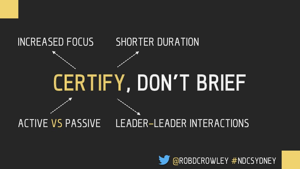 CERTIFY, DON'T BRIEF INCREASED FOCUS ACTIVE VS ...