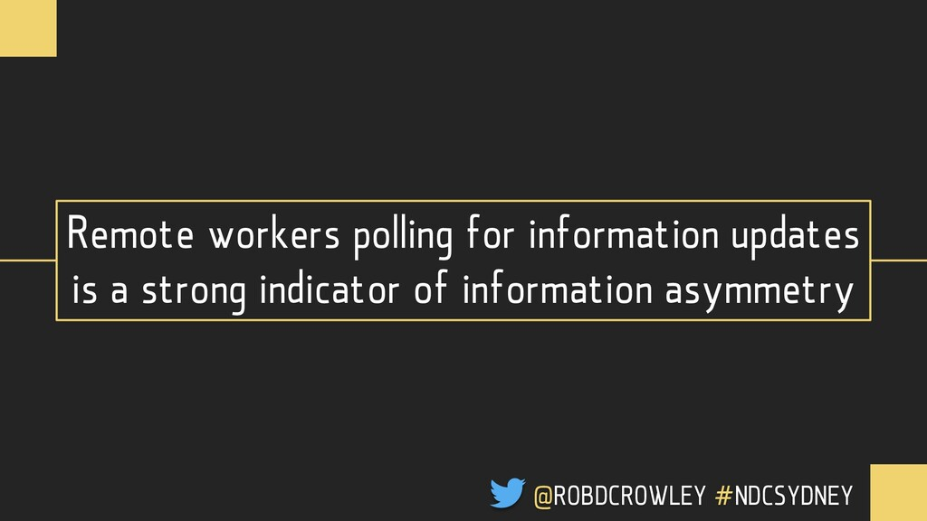 Remote workers polling for information updates ...