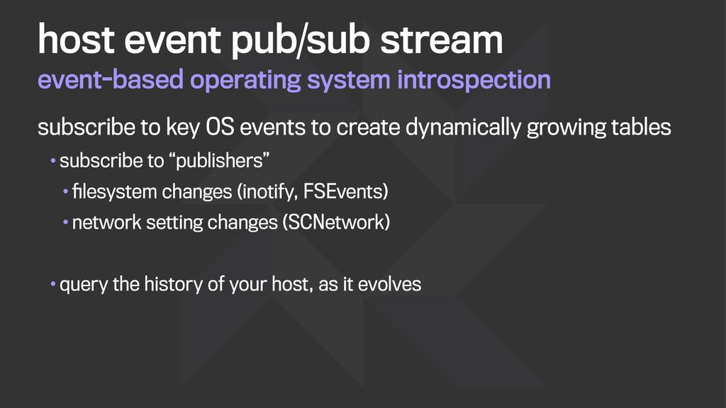 event-based operating system introspection host...