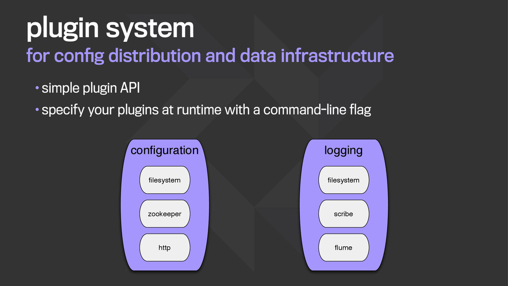 for config distribution and data infrastructure ...