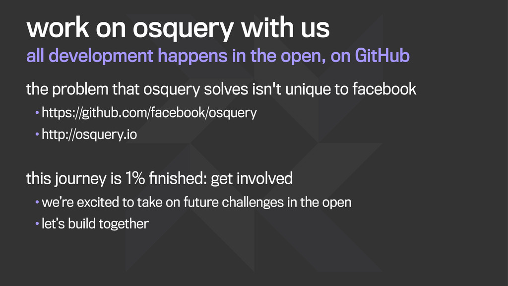 all development happens in the open, on GitHub ...