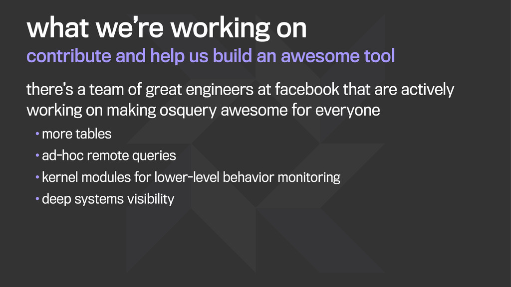 contribute and help us build an awesome tool wh...