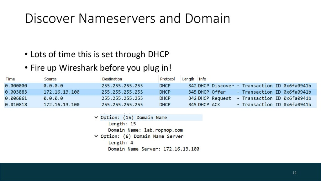 Discover Nameservers and Domain • Lots of time ...